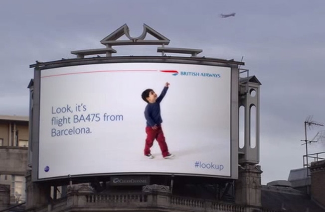 A clever use of Tech in advertising – #lookup